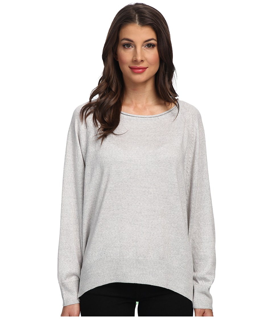 525 america - Wash Merino Rounded Bottom (Light Heather Grey) Women's Sweater