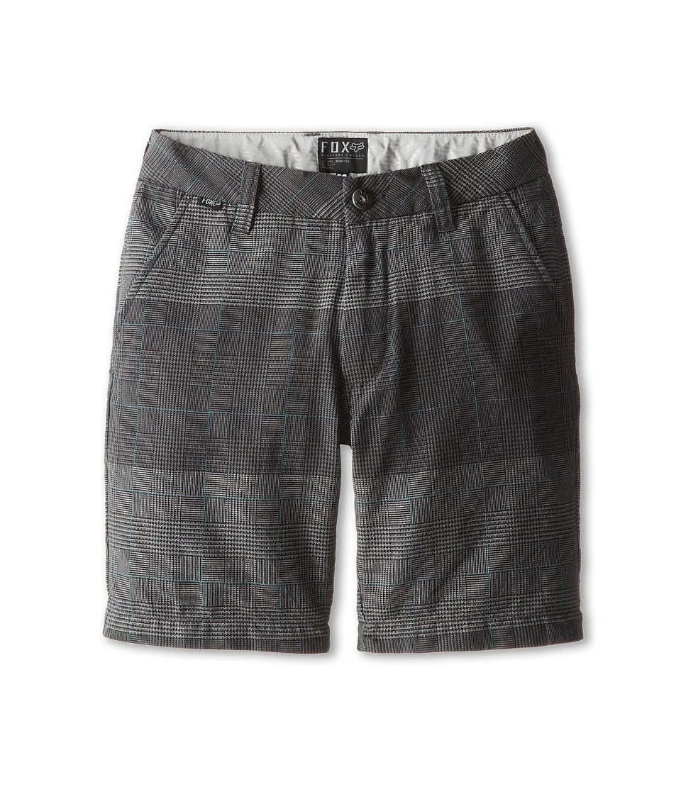 Fox Kids - Essex Plaid Short (Big Kids) (Black) Boy's Shorts