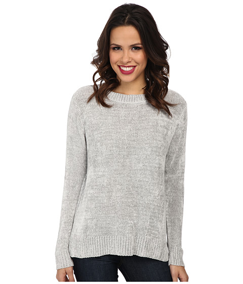 525 america - Chenille Crew Neck (Light Grey) Women's Sweater