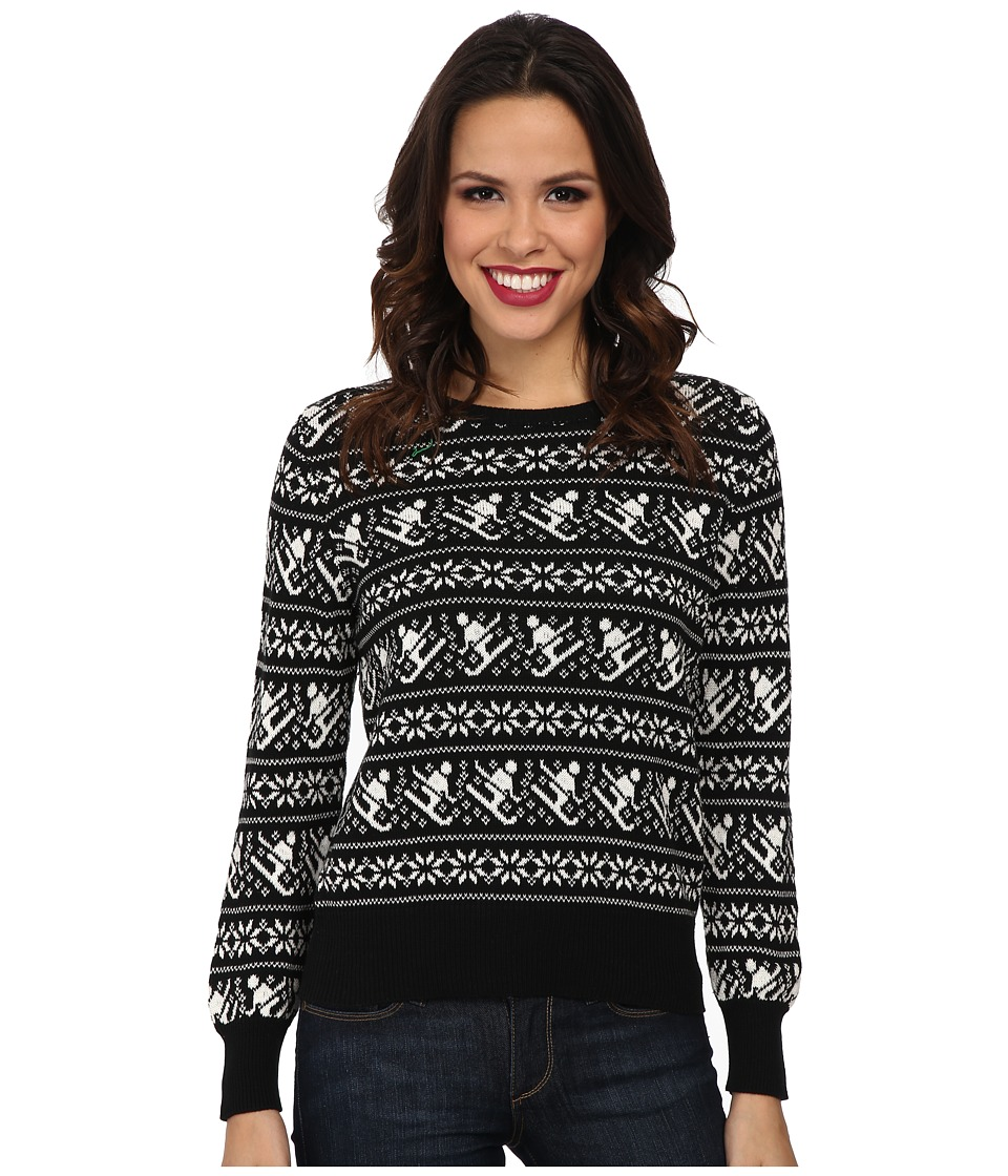 525 america - Crop Crew Skiier (Black Combo) Women's Sweater