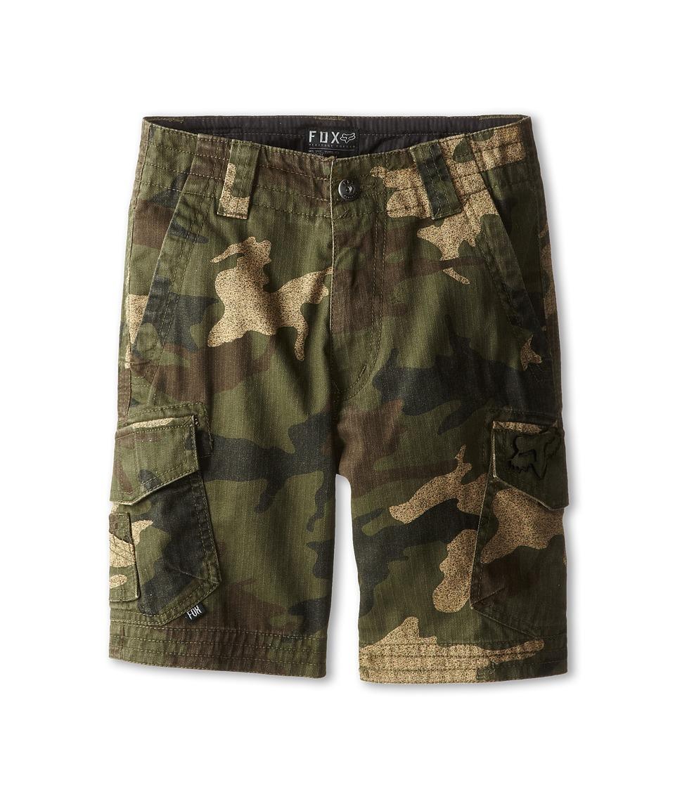 Fox Kids - Slambozo Cargo Short (Little Kids/Big Kids) (Green Camo) Boy's Shorts