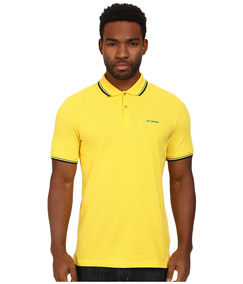 Ben Sherman - Block Font Romford Polo (Candy Yellow) Men