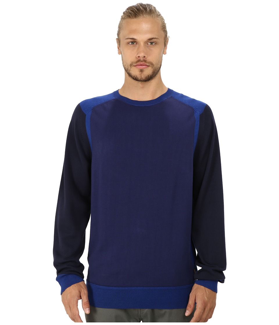 Ben Sherman - Sports Block Crew Neck (Medieval Blue) Men's Sweater