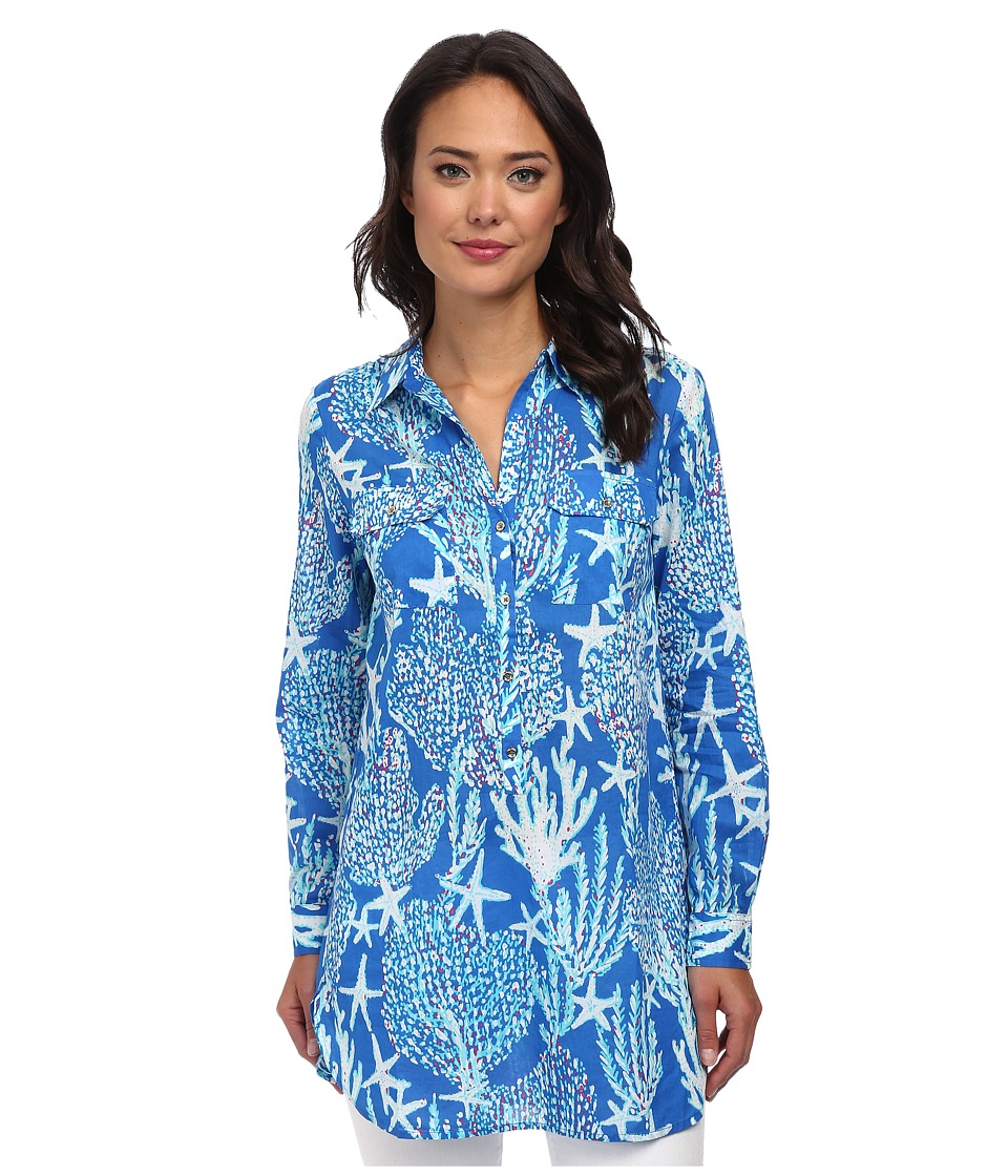 Lilly Pulitzer - Captiva Tunic (Brewster Blue Good Reef Small) Women