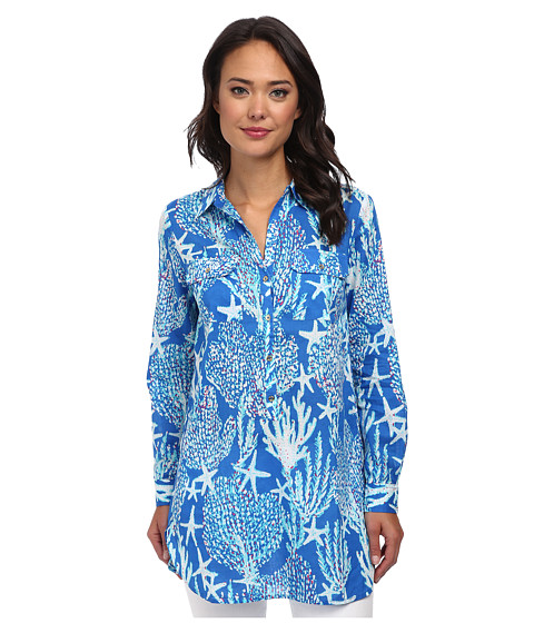 Lilly Pulitzer - Captiva Tunic (Brewster Blue Good Reef Small) Women's Dress