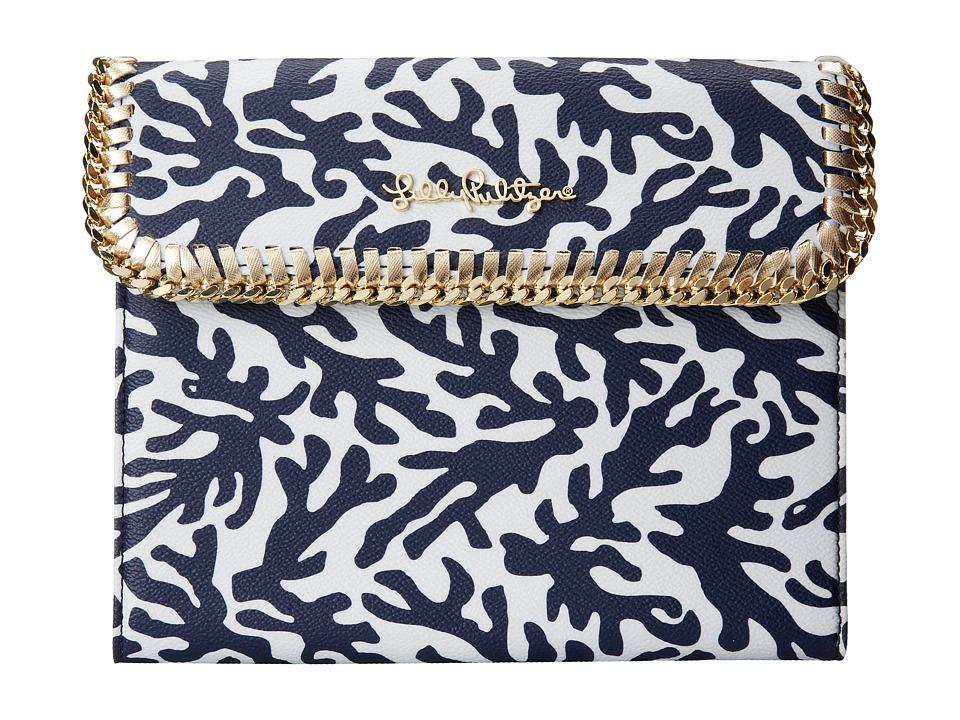Lilly Pulitzer - Chain Mail iPad Case (Bright Navy Treasure Small) Wallet