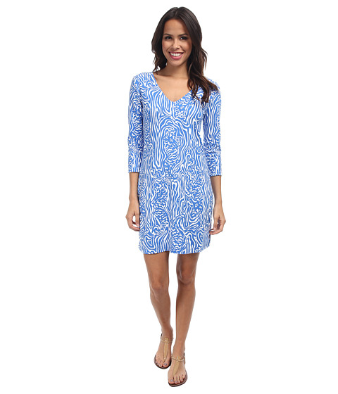 Lilly Pulitzer - Clarke Dress (Solar Blue Night Swimming) Women's Dress