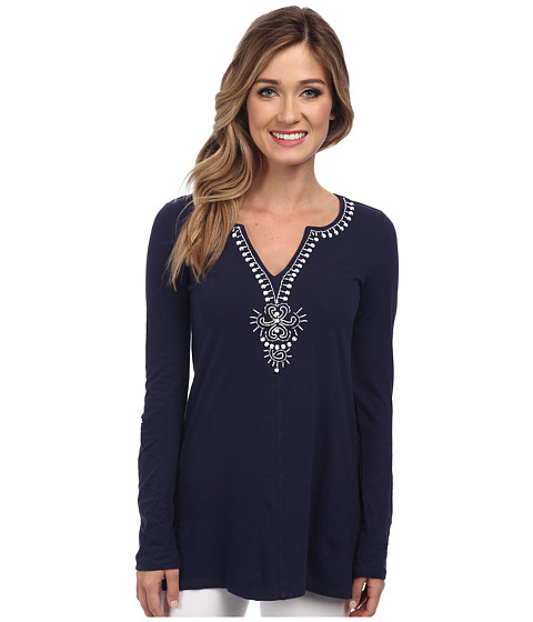 Lilly Pulitzer - Eliana Tunic (True Navy) Women's T Shirt