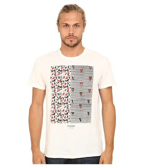 Ben Sherman - Bunting Print Tee (Off White) Men's T Shirt