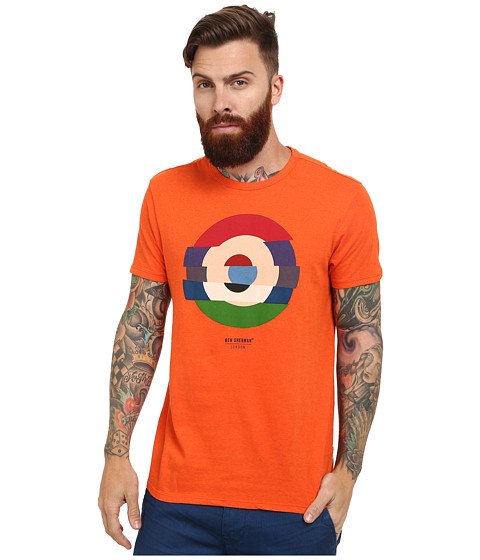 Ben Sherman - Shattered Target Tee (Deep Coral Marl) Men's T Shirt