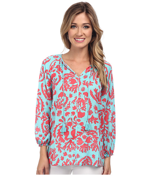 Lilly Pulitzer - Etta Top (Shorely Dont Be Shellfish) Women's Blouse