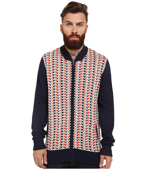 Ben Sherman - Jacquard Zip Thru (Navy Blazer) Men's Clothing