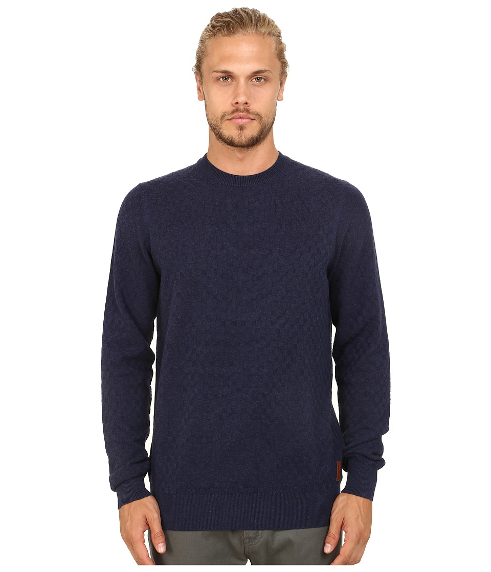 Ben Sherman - Check Crew Neck (Medieval Marl) Men's Clothing