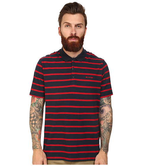Ben Sherman - Breton Stripe Polo (Navy Blazer) Men's Clothing