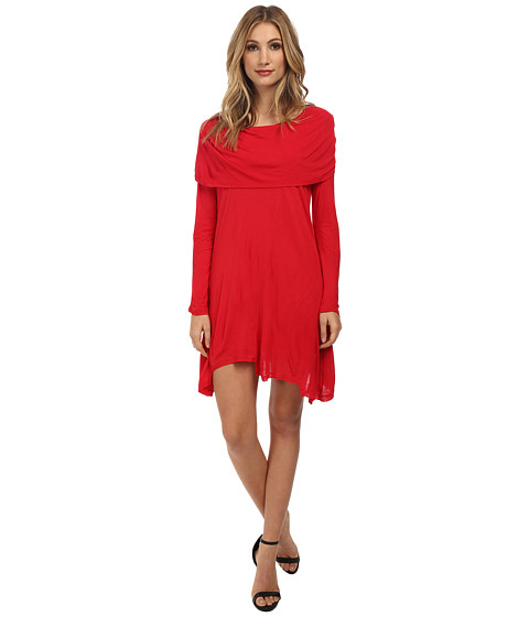 kensie - Sheer Viscose Tees Dress (Poppy) Women