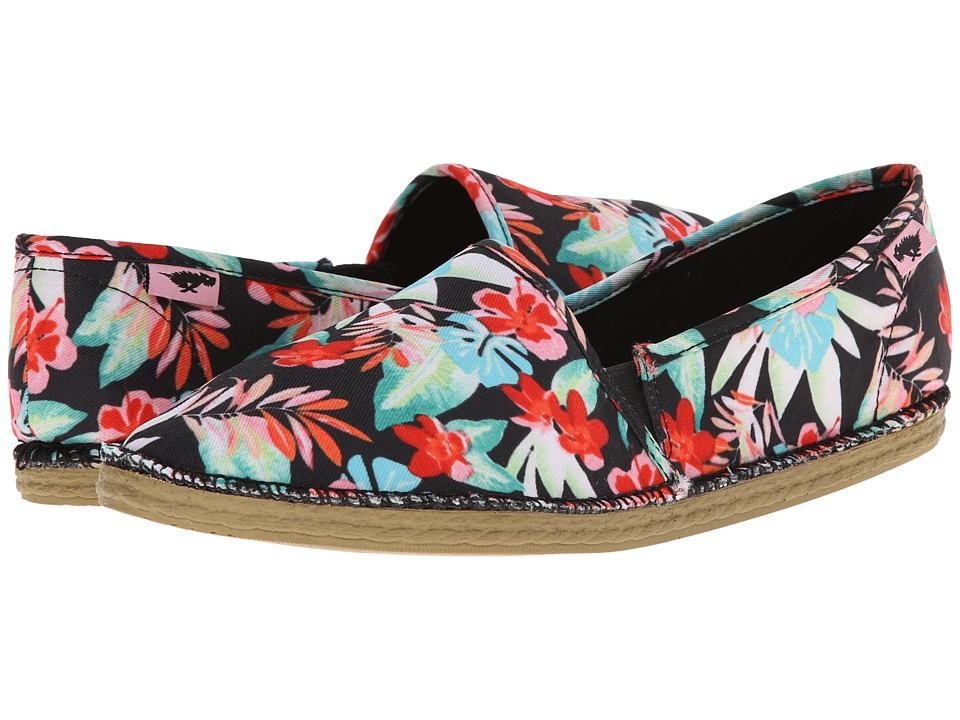 Rocket Dog - Henna (Black Hawaii Dream) Women's Slip on Shoes