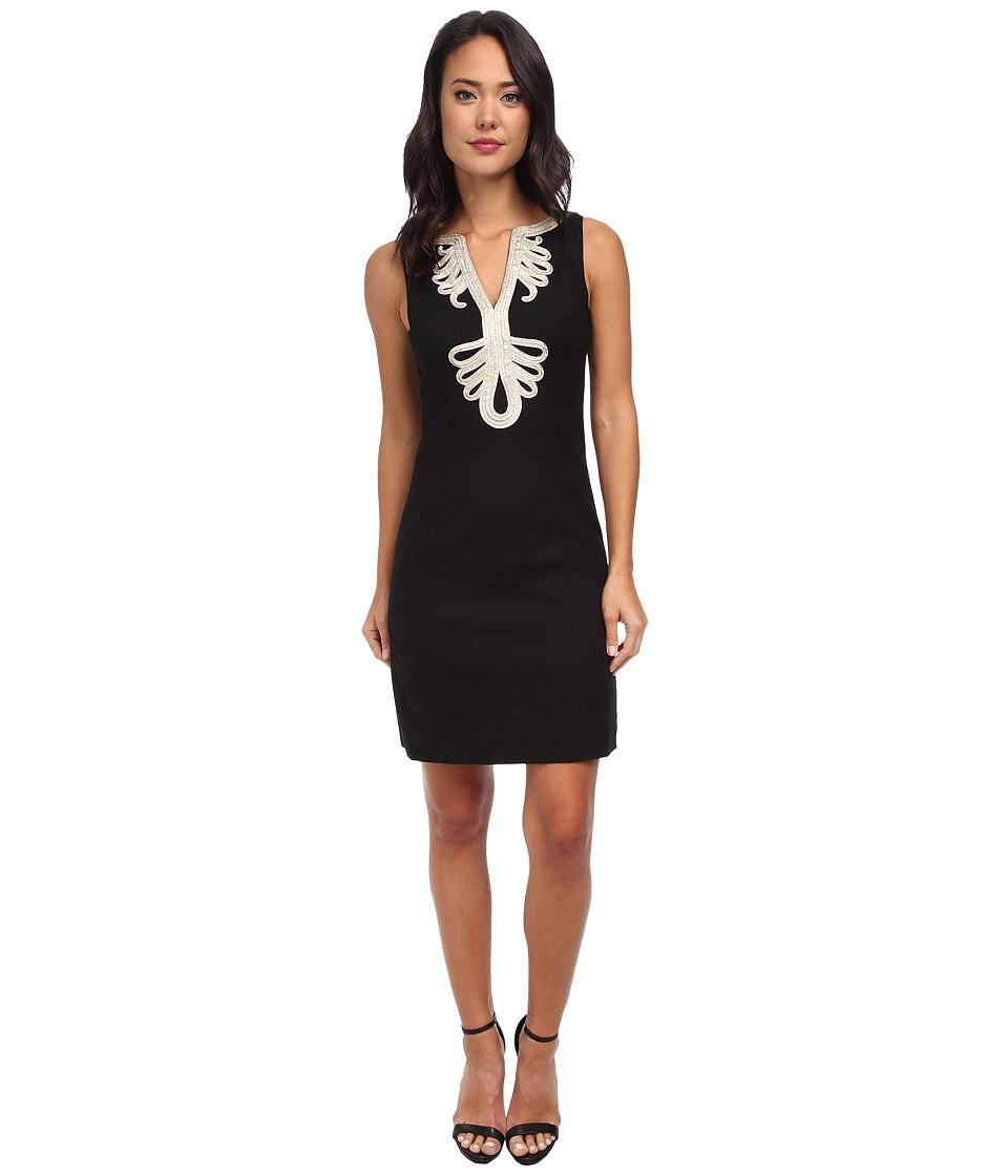 Lilly Pulitzer - Janice Shift Dress (Black) Women's Dress