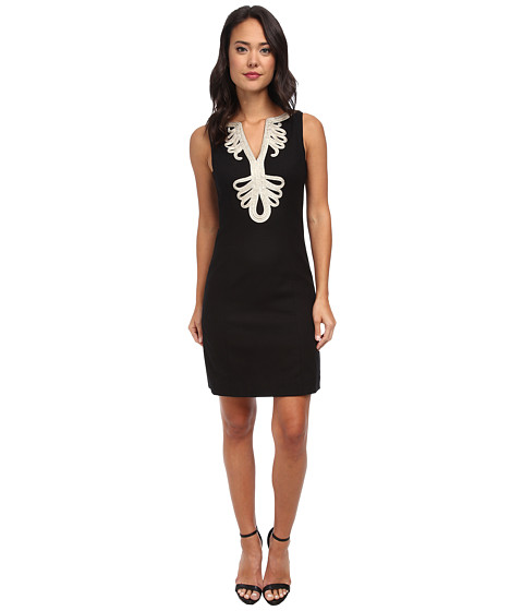 Lilly Pulitzer - Janice Shift Dress (Black) Women's Dress