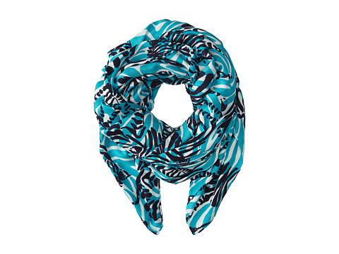 Lilly Pulitzer - Lillian Scarf (Bright Navy Im Game) Scarves