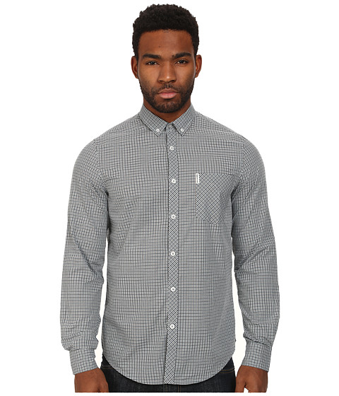 Ben Sherman - Mini Mod Check (Nickel Grey) Men's Short Sleeve Button Up