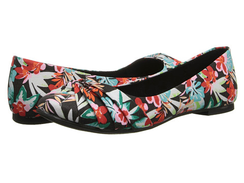 Rocket Dog - Myrna (Black Hawaii Dreams) Women's Flat Shoes