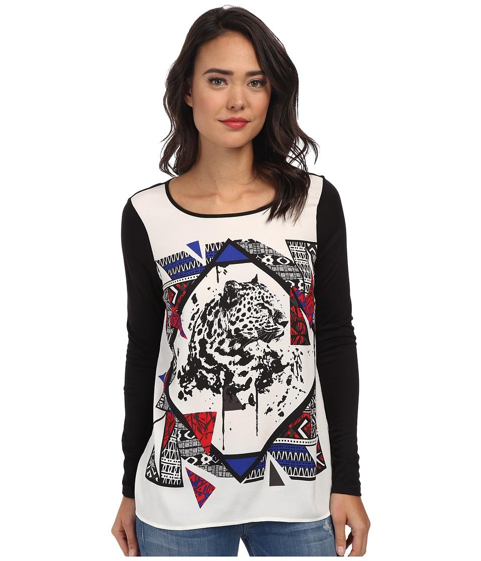 kensie - Jungle Leopard Top (Black Combo) Women