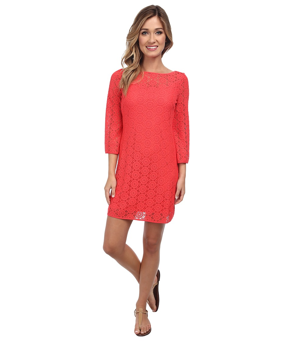 Lilly Pulitzer - Topanga Dress (Island Coral Breakers Lace) Women's Dress