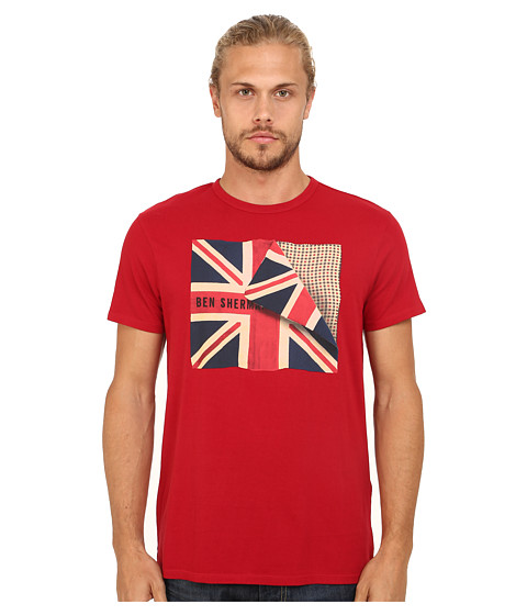 Ben Sherman - Folded Flag Tee (Dawn Red) Men's T Shirt