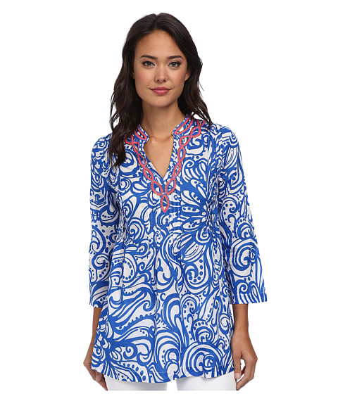 Lilly Pulitzer - Sarasota Tunic (Resort White Current Affairs) Women's Blouse