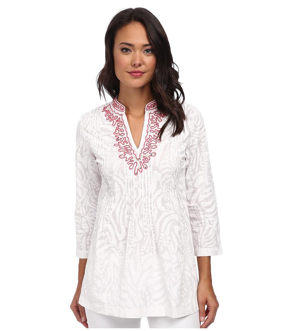 Lilly Pulitzer - Sarasota Beaded Tunic (Resort White 1) Women's Blouse