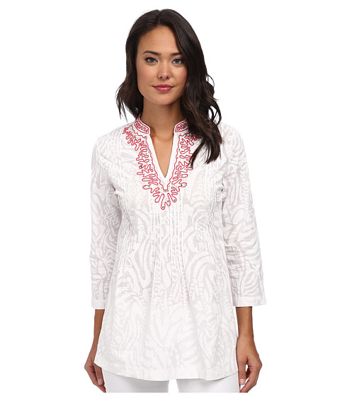 Lilly Pulitzer - Sarasota Beaded Tunic (Resort White 1) Women