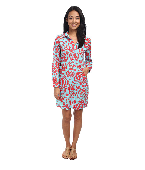 Lilly Pulitzer - Sanibel Tunic Dress (Shorely Blue Dont Be Shellfish) Women