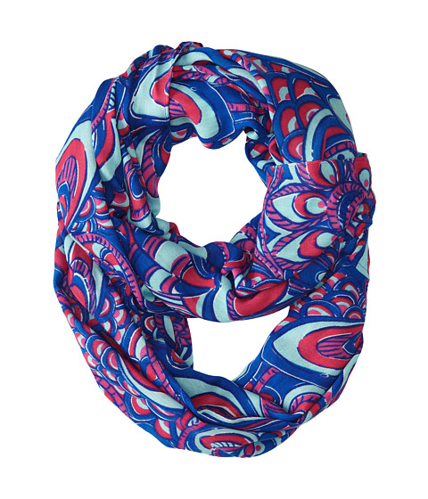 Lilly Pulitzer - Riley Infinity Loop Rayon (Brewster Blue Reel Me In) Scarves