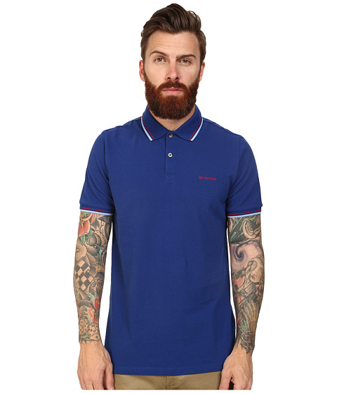 Ben Sherman - Block Font Romford Polo (Royal Blue) Men