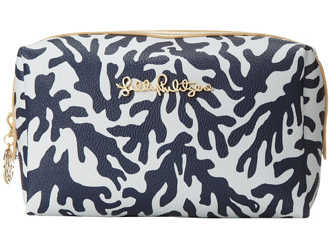 Lilly Pulitzer - PB Cosmetic Case Large (Bright Navy Treasure) Cosmetic Case