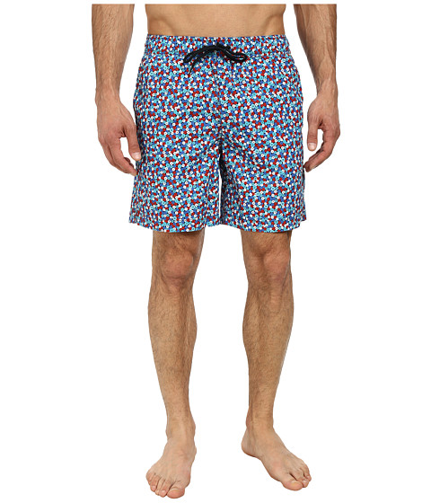 Ben Sherman - Button Print Swimwear (Medieval Blue) Men's Swimwear