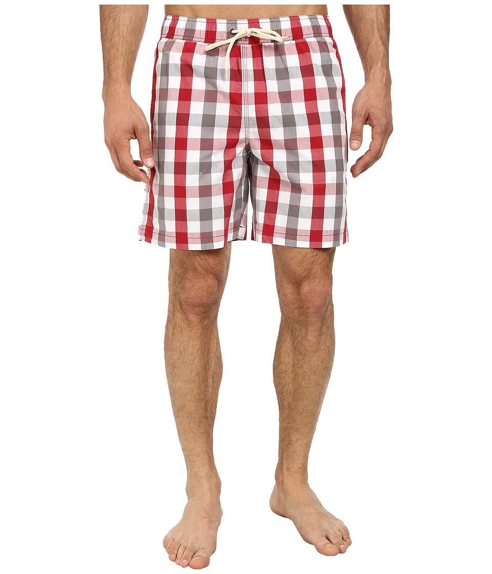 Ben Sherman - House Gingham Swimwear (Dawn Red) Men