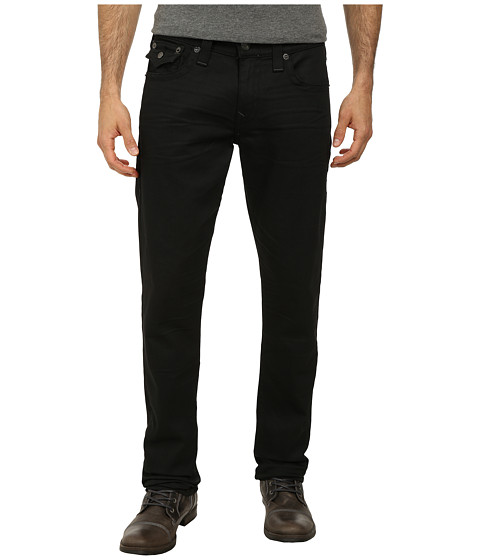 True Religion - Geno w/ Flap Black On Black in Iron Ore (Iron Ore) Men's Jeans