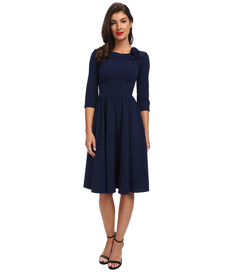 Stop Staring! - A-Line Swing Dress (Navy) Women's Dress