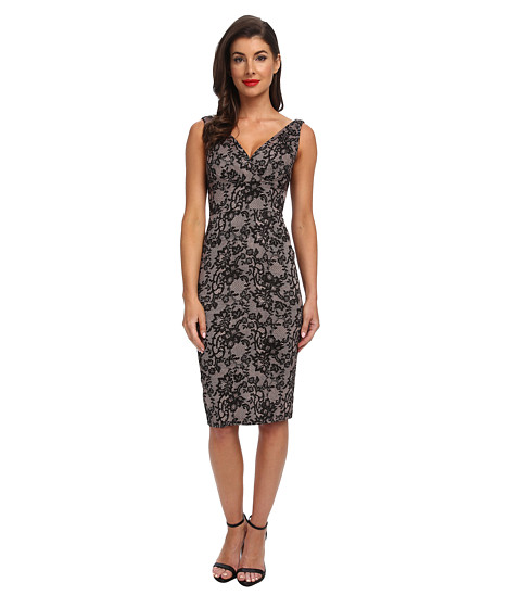 Stop Staring! - V-Neck Dress (Pink Lace) Women's Dress