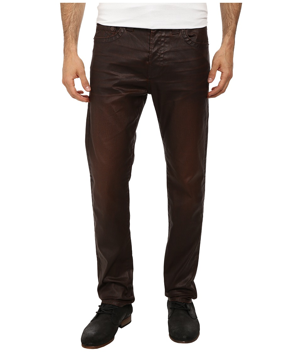 True Religion - Dean Relaxed Tapered No Flap Leather Like (Brown) Men's Jeans