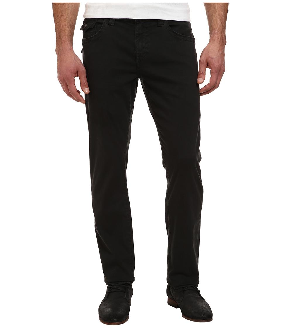 True Religion - Geno w/ Flap Overdye Sateen (Black) Men's Casual Pants