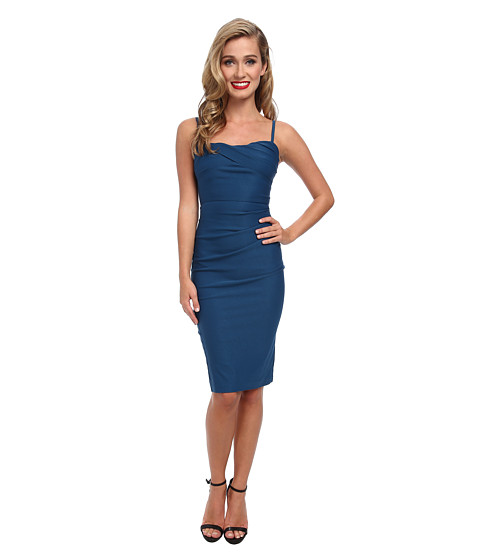 Stop Staring! - Spagetti Strap Dress (Peacock Blue) Women's Dress