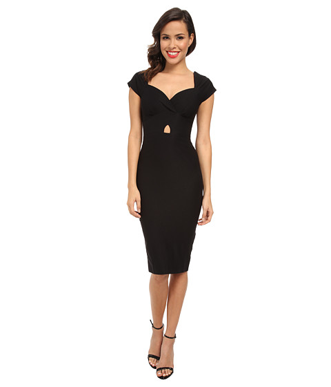 Stop Staring! - Sweet Heart Neck with Cutout (Black) Women's Dress