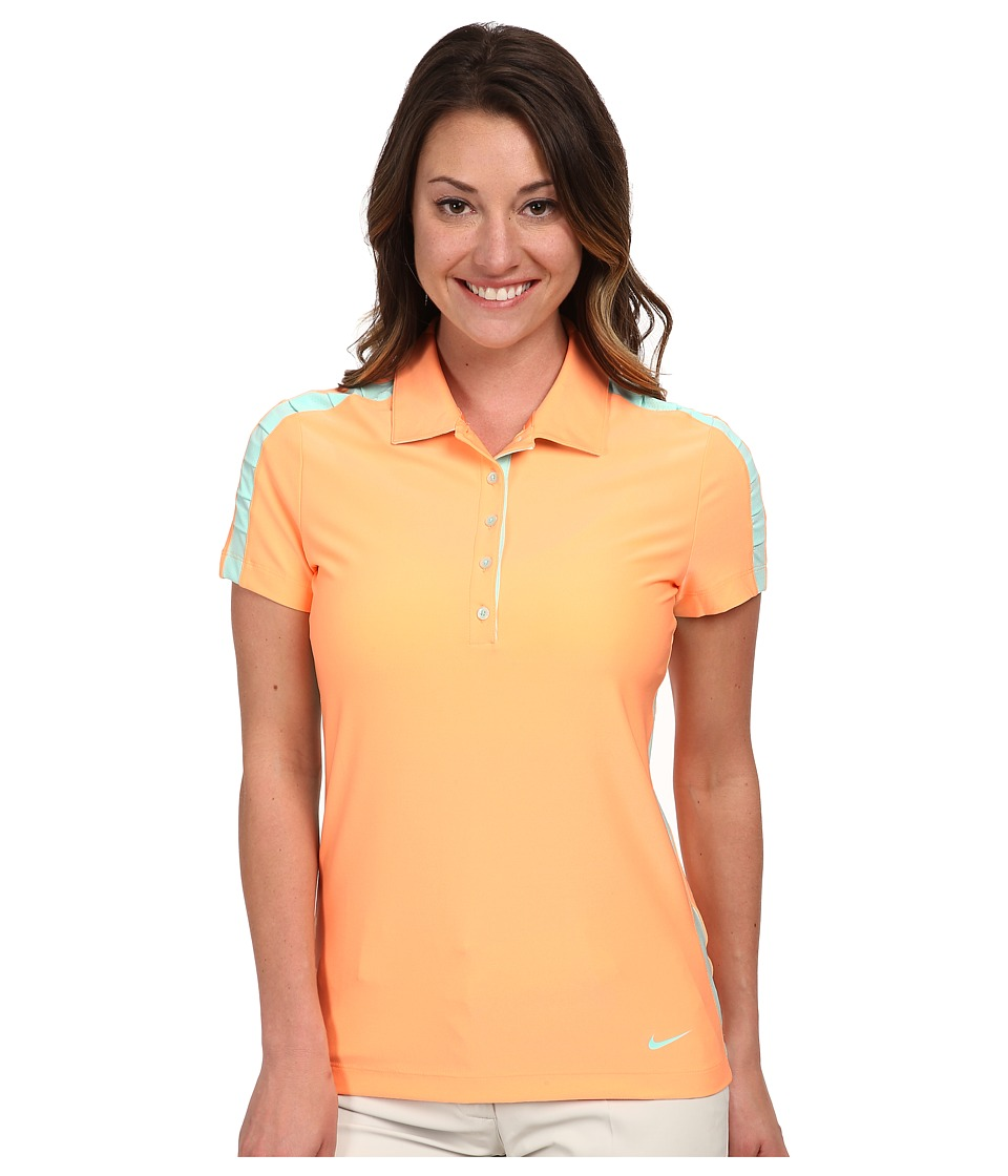 Nike Golf - Seasonal Mesh Polo (Sunset Glow/Artisan Teal) Women's Short Sleeve Pullover