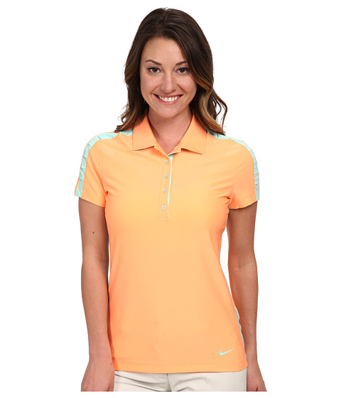 Nike Golf - Seasonal Mesh Polo (Sunset Glow/Artisan Teal) Women