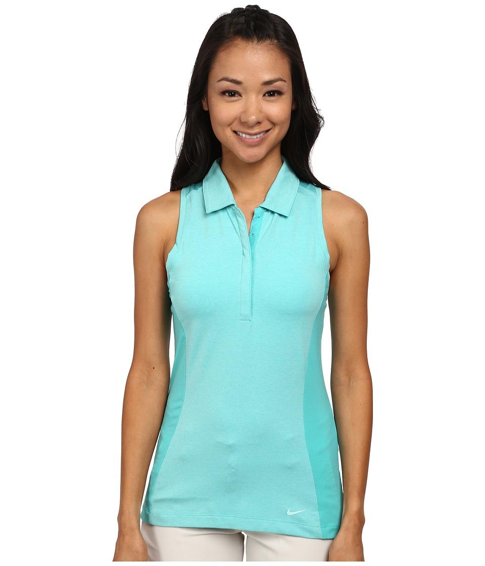 Nike Golf - Luxe Racerback (Light Retro/Light Retro/Artisan Teal) Women's Sleeveless