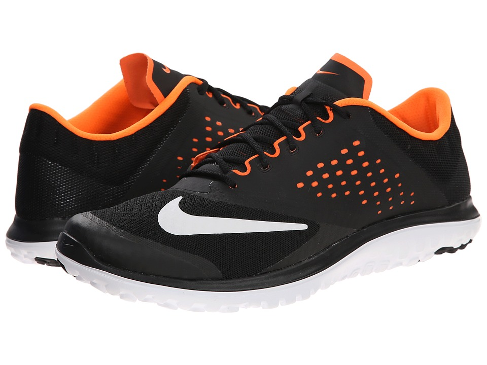 Nike - FS Lite Run 2 (Black/Total Orange/White) Men's Running Shoes