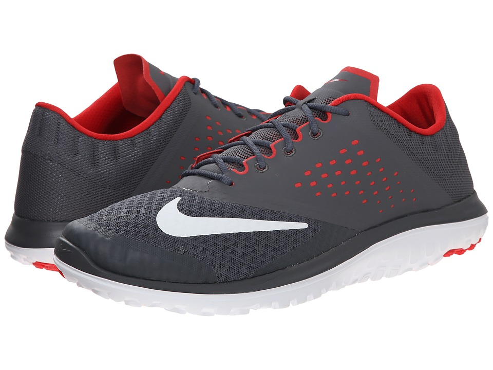 Nike - FS Lite Run 2 (Dark Grey/University Red/White) Men