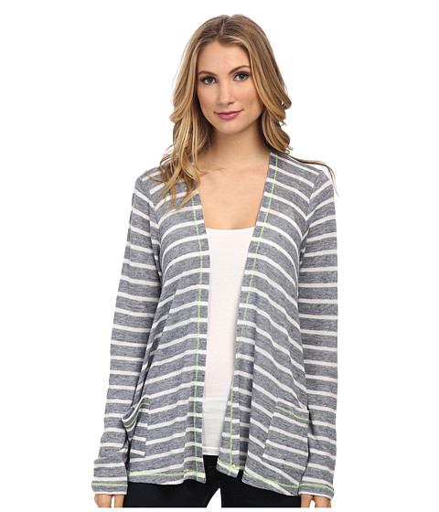 C&C California - Stripe Drape Cardigan (Dutch Blue) Women's Sweater